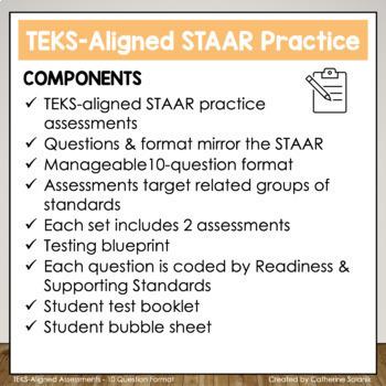 6th Grade Math STAAR BUNDLE ~ 20 Assessments - 200 Questions TEKS