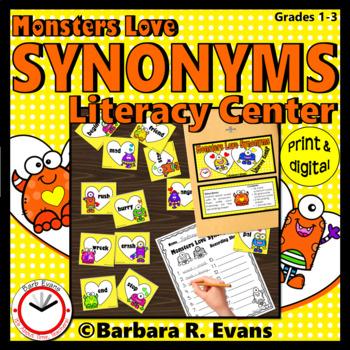SYNONYMS LITERACY CENTER Synonyms Activity Grammar Activity Vocabulary