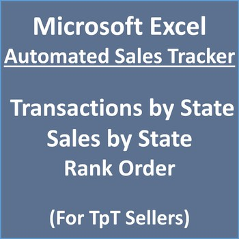 Sales Tracker - Sales and Transactions by State by The DeSimone Store