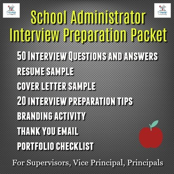 Administrator Interview Teaching Resources Teachers Pay Teachers