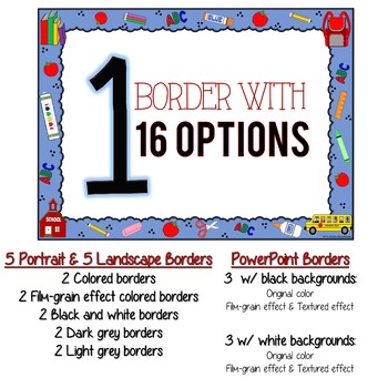 School Border by MJ\u0027s Rockin\u0027 SchoolHouse Teachers Pay Teachers