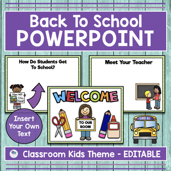 School Kid Theme Back To School Powerpoint for Open House and Meet - theme powerpoint for kids
