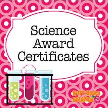 Science Award Certificates Teaching Resources Teachers Pay Teachers