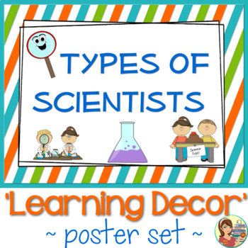 Types of Scientists Posters by SunnyDaze Teachers Pay Teachers