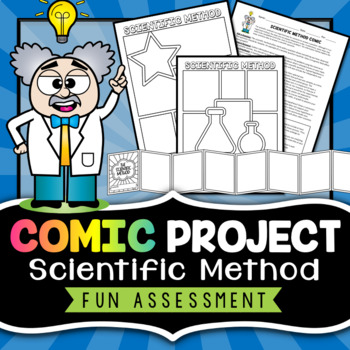 Scientific Method Project - Comic Strip by Morpho Science TpT