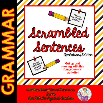 Scrambled Sentences Grammar Activity Quotations Dialogue TpT