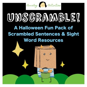 Scrambled Sentences and Sight Words Printable Halloween Activities