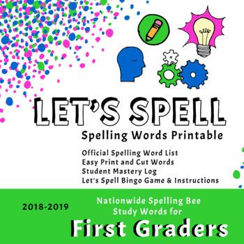 Scripps First Grade Spelling Words Printable (2018-2019) by MommyNickie