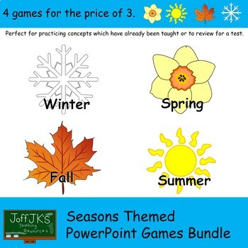 Seasons Themed PowerPoint Review Games Bundle by JoffJK\u0027s teacher
