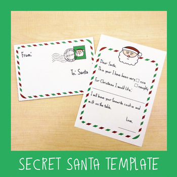 Secret Santa Letter Templates by ESL4FUN Teachers Pay Teachers
