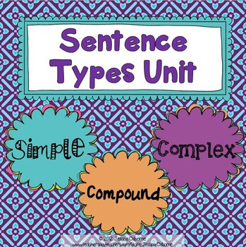 Sentence Types Unit Simple, Compound, Complex {sentence structure}