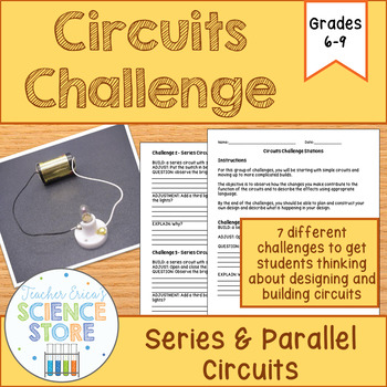Series And Parallel Circuits Worksheet Teachers Pay Teachers