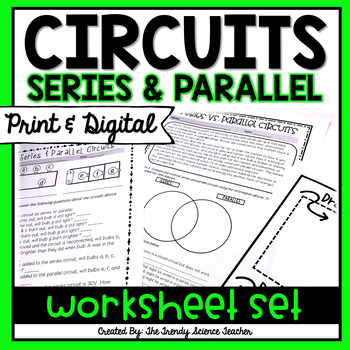 Series And Parallel Circuits Worksheet With Answers TpT
