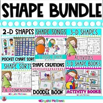 SHAPE MEGA BUNDLE! (2  3 Dimensional Shapes) 10 SHAPE PACKS TpT