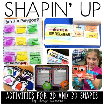Shapin\u0027 Up A Shape Unit with 2D and 3D Shapes by Amy Lemons TpT