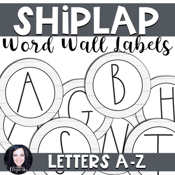 Shiplap Chic Farmhouse Word Wall Labels by Lindsey Nagorski TpT
