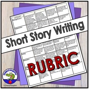 Short Story Writing Rubric for Project Based Learning by HappyEdugator