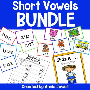 Short Vowels BUNDLE -Activities, Flashcards, Printables, Readers