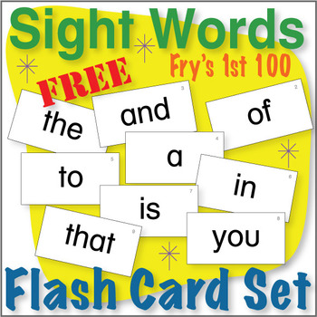 Sight Word Flash Card Set by Donald\u0027s English Classroom TpT
