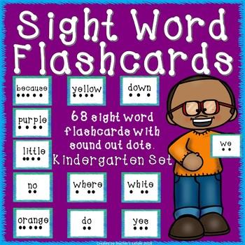Sight Word Flash Card Kindergarten Set by Teacher\u0027s Exhale TpT