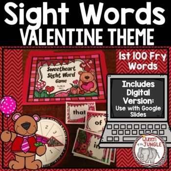 Sight Word Game First Hundred Fry Words by Queen of the Jungle TpT