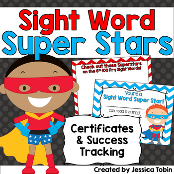 Sight Words Tracking and Achievement Certificates TpT - words for achievement