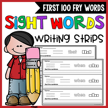Fry Sight Words Activities - first 100 words Fry Words Worksheets