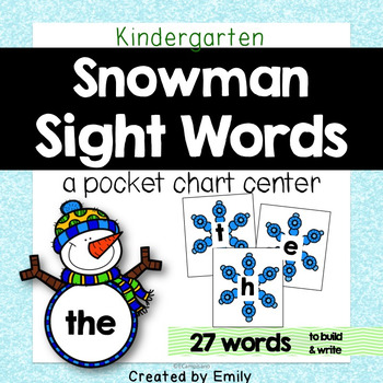 Sight Words Winter Themed by Emily Campisano TpT