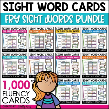 Fry Sight Words Flash Cards - 1,000 Sight Word Bundle by Shelly Rees