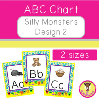 ABC Chart Silly Monsters Design 2 by So Elementary LLC TpT