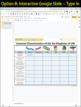 Kingdom Classification Worksheet Oaklandeffect