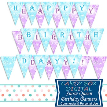 Snow Queen Full-Size Printable Birthday Party Banner - for Frozen
