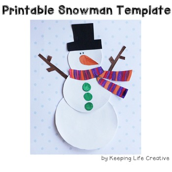 Snowman Craftivity Template by Keeping Life Creative TpT