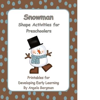 Snowman Shape Activities for Preschoolers by Preschool Discoveries