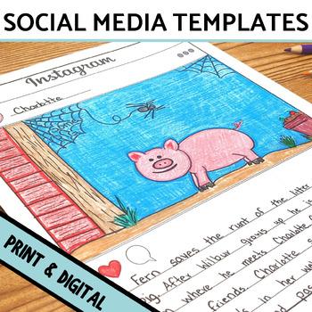 Social Media Template Bundle Instagram, Snapchat,  Twitter by Srta