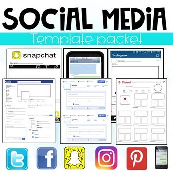 Social Media Template Packet (Facebook, Twitter, Instagram, Snapchat