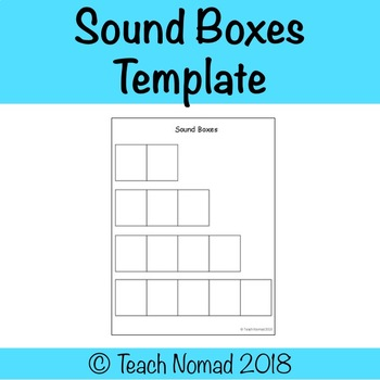 Sound Boxes Template Teaching Resources Teachers Pay Teachers