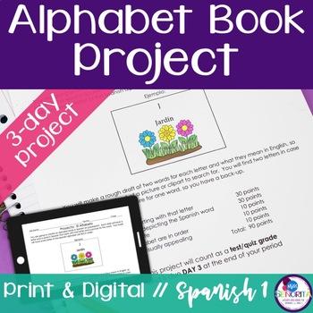 Spanish Alphabet Book Project by Miss Senorita TpT - alphabet in spanish