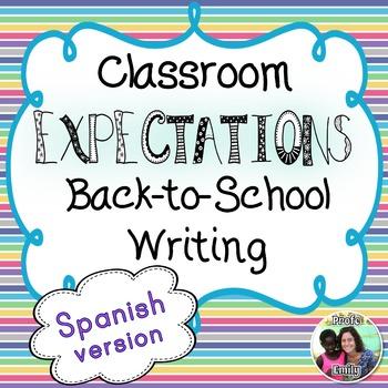 Back-to-school Spanish Classroom Expectations Writing Mini-Books