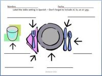 Spanish - Table Setting Quiz by Goldie | Teachers Pay Teachers