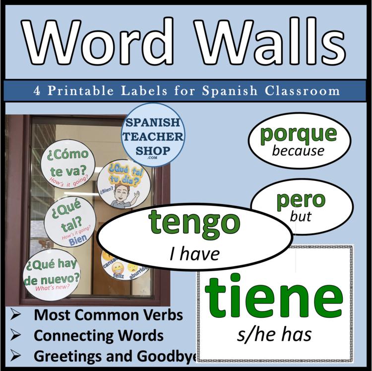 Spanish Word Wall by SpanishPlans Teachers Pay Teachers