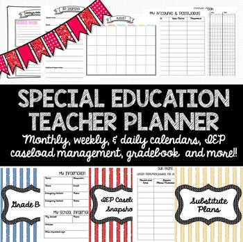 Special Education Teacher Planner for ANY YEAR! Caseload Management