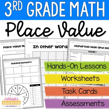 3rd Grade Math - Place Value Unit by Ashleigh Teachers Pay Teachers - place value unit