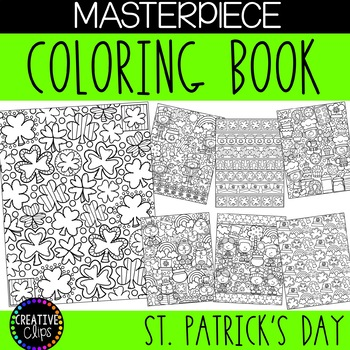 St Patrick\u0027s Day Coloring Pages Masterpieces {Made by Creative Clips}