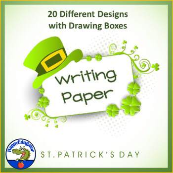 St Patrick\u0027s Day Writing Paper - Lined Paper with Drawing Boxes - 20