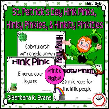 HINK PINKS HINKY PINKIES HINKITY PINKITIES St Patrick\u0027s Day