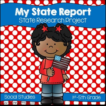 State Report Research Project by Teaching with Nancy TpT - research project report