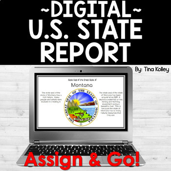 State Report Template for Google Drive by Tina Kolley TpT