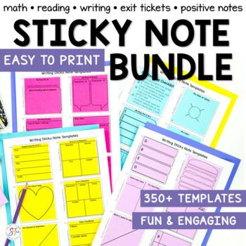 Sticky Note Templates Bundle by The Stellar Teacher Company TpT