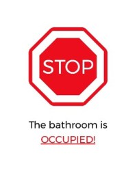 Stop & Go Classroom Bathroom Sign by The Meurig Group | TpT